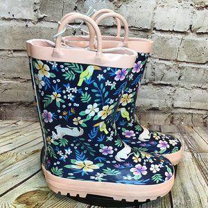 Carter's Unicorn Floral Girls Rain Boots Size 12 M